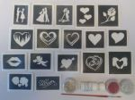 St. Valentines glitter tattoo set for girls  including 3 pots of colour +  glue   children   present